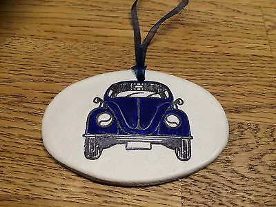 Beautiful Handmade Clay Hanging Red VW Camper Van Decoration//gift Tag New
