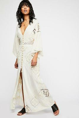 a57e6e8eae3 NWOT FREE PEOPLE NIGHTCAP CLOTHING LIMA CROCHET LACE MAXI DRESS sz M ...