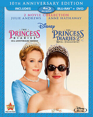 PRINCESS DIARIES 1 + 2 2-MOVIE COLLECTION New Blu-ray + DVD 10th Anniversary Ed