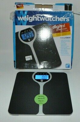 WW by Conair Carbon Fiber Design BMI Bathroom Scale for 4 users up to 400lbs