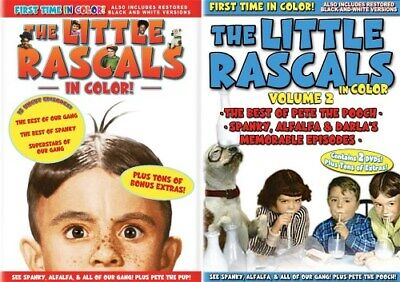 LITTLE RASCALS IN COLOR VOL 1 + 2 New Sealed 5 DVD
