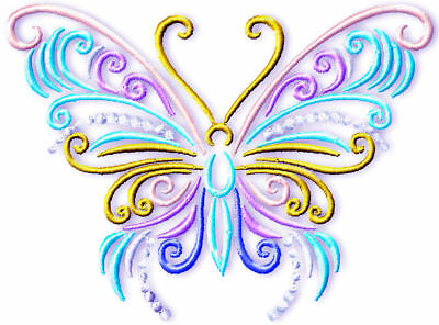 Fireworks Butterflies 10  Machine Embroidery  Designs 2 Sizes