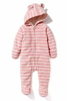 8167d6bb9c3f NWT 6-12M OLD Navy Fleece Coverall -  12.00