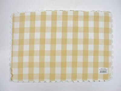 4 Lintex 100 Cotton Reversible Placemats Yellow Buffalo Check 13x19 New