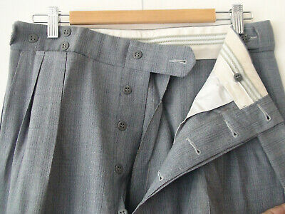 ORIGINAL VINTAGE DEADSTOCK 1940S MEN'S PANTS PARK LANE w32X33