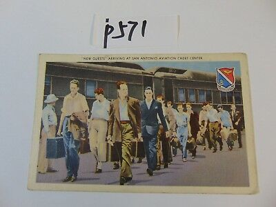 Vintage Postcard San Antonio Texas New Guests Arriving Cadet Center 1944 Wwii