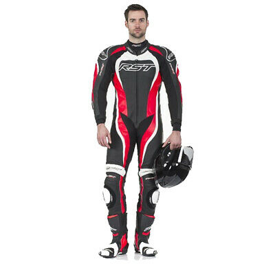 Rst Tractech Evo II 1415 Leather Sports Track Motorcycle Motorbike Suit Red