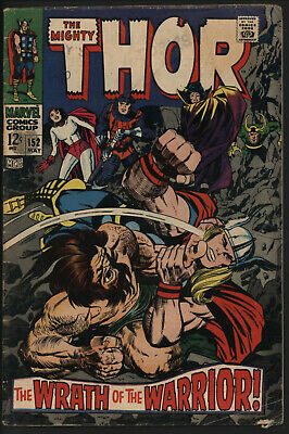 Thor #152 May 1968. Versus The Detroyer. Nice Pages