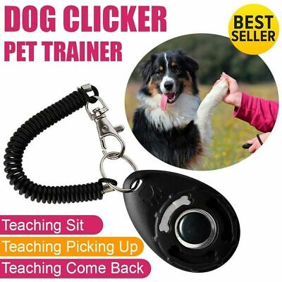 Black Dog Pet Training Clicker/Trainer Teaching Tool/Dogs/Puppy