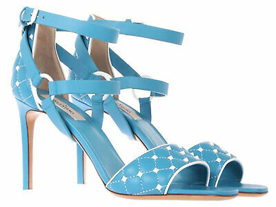 b0013f867c22 Valentino women s high heel sandals shoes in light blue leather Size US 9 -EU  39