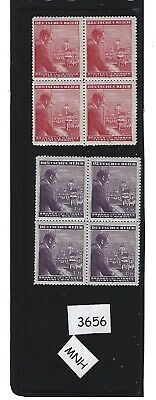 MNH Stamp block set / 1943 Third Reich / Adolph Hitler  Birthday / Nazi Germany