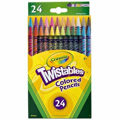 Crayola Twistables Coloured Drawing Arts & Crafts Pencils 24 Pack