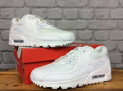buy popular c384f 8e0c1 Nike Air Mens Uk 7 Eu 41 White Max 90 Essential Leather Mesh Trainers Rrp £