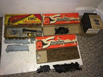 3 Vintage 40s/50s Cast Iron HO Train Steam Locomotive Engines,Projects,Parts