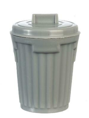1:12 Scale Plastic Dustbin With Some Rubbish Tumdee Dolls House Miniature Garden