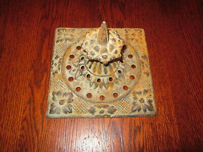 Antique Cast Iron Fence Finial, Patented 1845, VA Metalcrafters