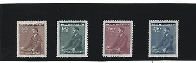 MNH Stamp set / 1942 Third Reich / Adolph Hitler  Birthday / Nazi Germany / MNH