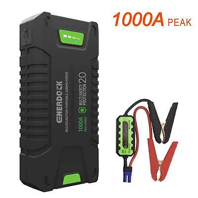 Car Jump Starter 1000A Peak Amp Portable Charging Power Pack Vehicle Engine New