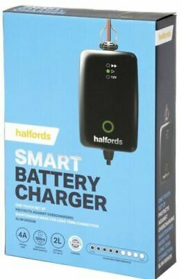 Halfords Smart Battery Charger -Bnib