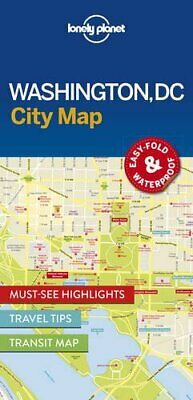 Lonely Planet Washington DC City Map (Travel Guide) New Map Book Lonely Planet