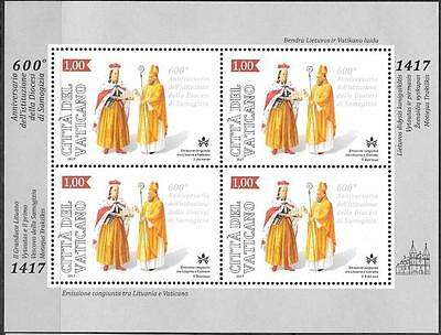 Vatican 2017 Joint Issue with Lithuania Diocese of Samogitia 600th Anniv MNH MS