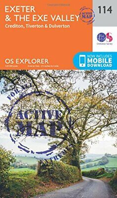 Exeter and the Exe Valley (OS Explorer Active Map) New Map Book Ordnance Survey