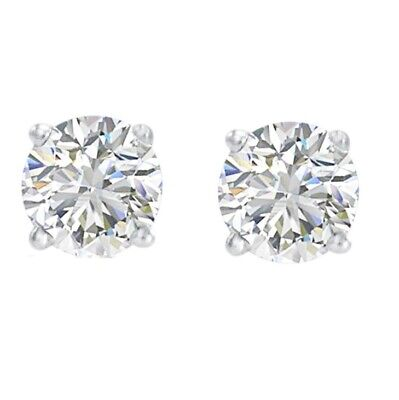 .30 ct tw Natural (Real)  Diamond Stud Earrings set in  14K White Gold