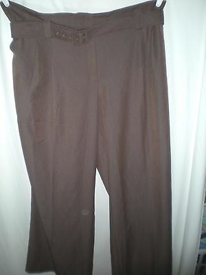 ed21b04f0f5ee Womens New Nwt Brown Ashley Stewart Poly Career Dress Slacks Pants Size 26  50X32