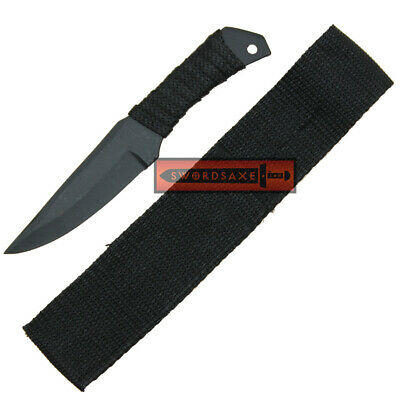 Tactical Combat Drop Point Full Tang Military Survival Mini Knife Nylon Cord