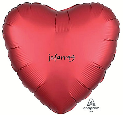"18""/46cm Satin Red Love Heart Foil Balloons Valentine / Engagement / Wedding ❤️"