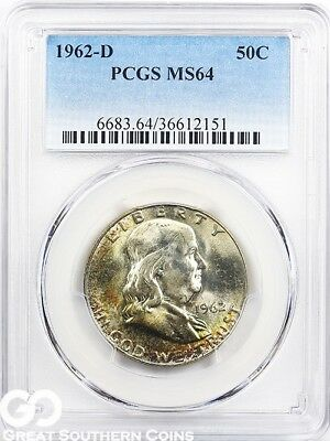 1962-D PCGS Franklin Half Dollar PCGS MS 64