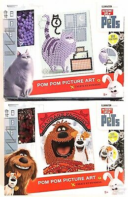 Secret Life of Pets Pom Pom Picture Art Bundle Kids Toys For Boys Girls 5+ Years