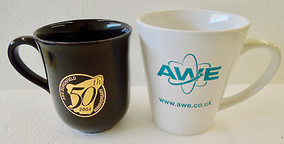 Uk Nuclear Weapon Research Facility Awe Aldermaston & Burghfield Coffee Cups !!
