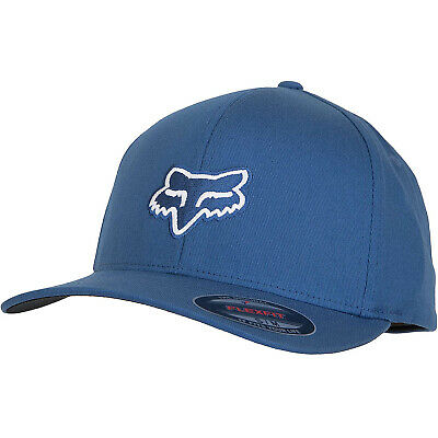 Fox Racing Men's Legacy Flexfit Hat Blue Baseball Cap Headwear Apparel