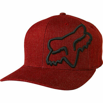 Fox Racing Men's Clouded Flexfit Hat Cardinal Red Headwear Baseball Cap