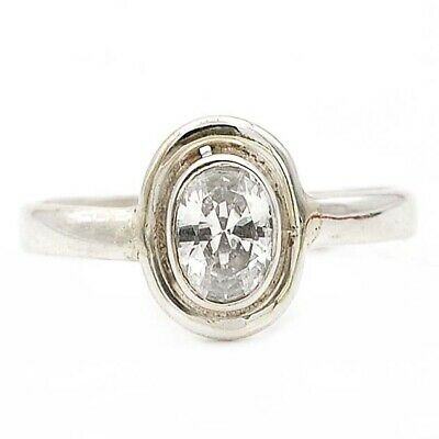 Top Quality White Topaz 925 Solid Sterling Silver Ring Jewelry Sz 8
