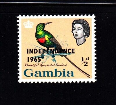 1965 Queen, Sunbird MNH OVPT Sc 193, Gambia Collector