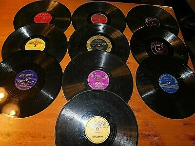 78 RPM Lot of 10 Mixed Label Records Various Artists Sammy Kaye FREE SHIPPING