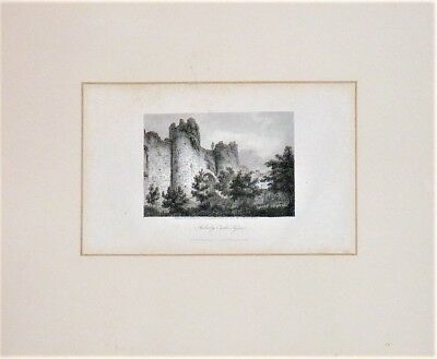 Antique Early 19Th Topographical Engraving: Amberley Castle, Sussex 1806