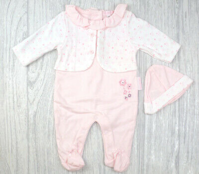 """SPANISH STYLE BABY GIRL """"FLOWERS""""  FAUX JACKET ALL IN ONE - NB, 0-3m"""