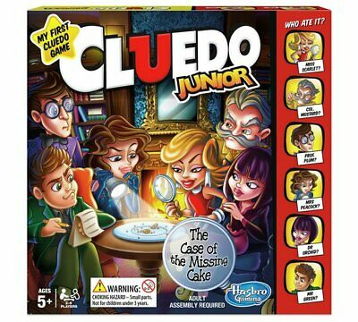 Cluedo Junior Game from Hasbro Gaming Mission To Discover Who Took A Piece NEW