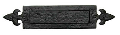 Black Cast Iron Antique Style Letterbox 340mm x 80mm Flap Size - 175mm x 40mm