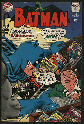 Batman #199. White Pages. Great Carmine Infantino Cover.