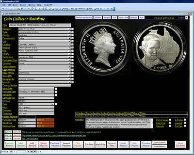 Coin Image Database Software Pro Windows 7/8/10 XP Vista supplied by download