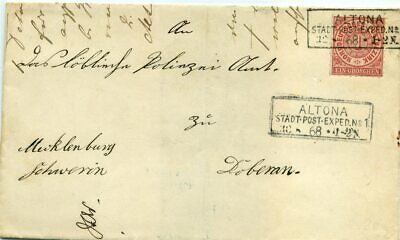 413527) Schleswig-Holstein R3 Altona Stadt.Post.Exped. 1868 a. Blg m. 1 Gr. NDP