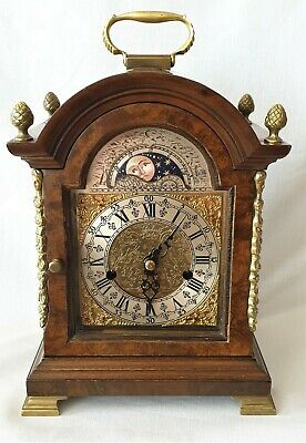 Clock Warmink Wubba Early Dutch Shelf Moon Dial 8 Day Wind Up Key Wind Pendulum