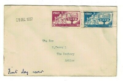 Ireland cover - FDC 1937 - constitution day - to Arklow, Co. Wicklow