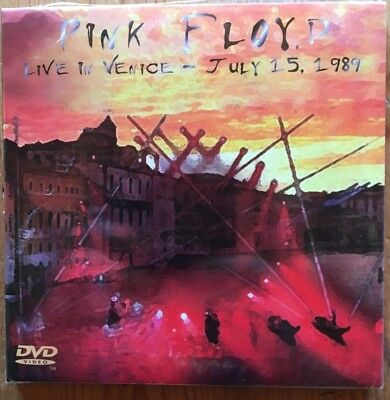 "PINK FLOYD ""LIVE VENICE JULY 15th 1989"" RARE DOUBLE CD + DVD NEUF !"