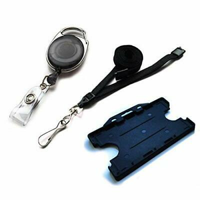 ACB PREMPACKV61 Double Sided Premier Id Card Badge Holder With Metal Lanyard Pac