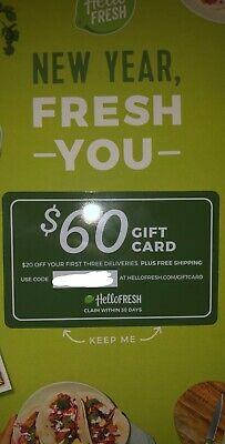 hello fresh gift card 60 Giftcard